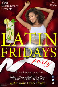 Latin Friday Party Flyer