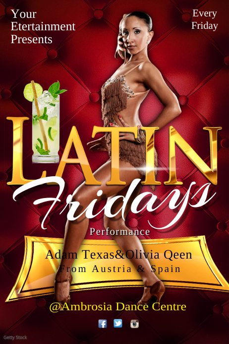 Latin Friday's Event Poster