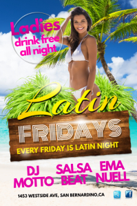Latin Fridays party Template