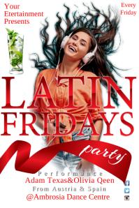 Latin Fridays Poster Póster template