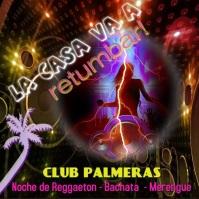 latin night/disco/bar/DJ/nightclub/hispanic Квадрат (1 : 1) template