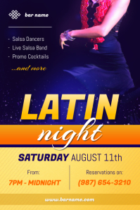 Latin Night Poster Template