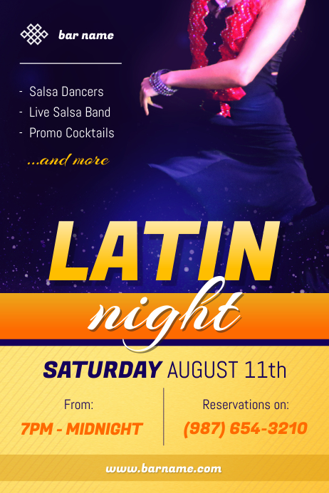 Latin Night Poster Template