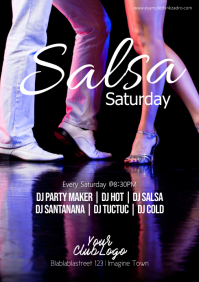Latin Night Salsa Party Event Latin Dance A4 template