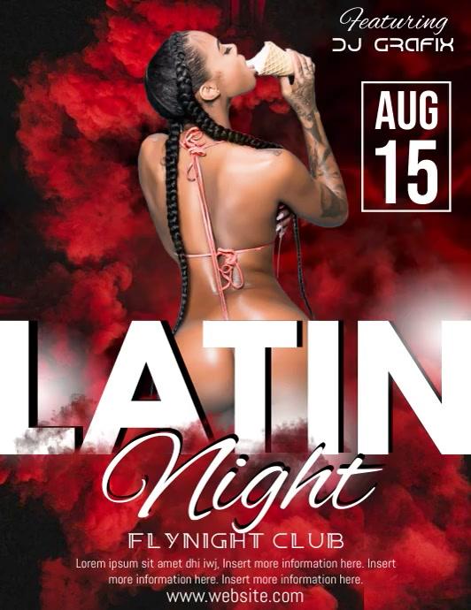 Latin Night Video Volante (Carta US) template