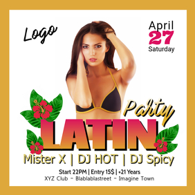 Latin Party Evening Party Dance Event Sexy Woman Insta