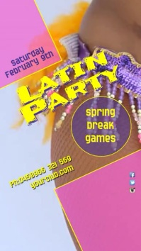 Latin Party Instagram Post Display digitale (9:16) template