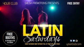 Latin Saturdays TV Advert Digital Display (16:9) template