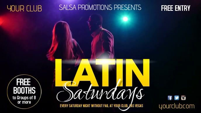 Latin Saturdays TV Advert Digitale display (16:9) template
