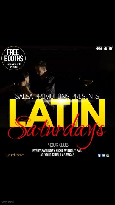 Latin Saturdays Video Advert