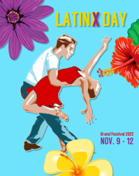 latinx day hispanic heritage event party Affiche/Panneau mural template