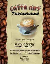 Latte Art Throwdown Editable Flyer template