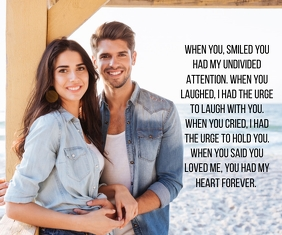 LAUGH AND SMILE QUOTE TEMPLATE Large Rectangle
