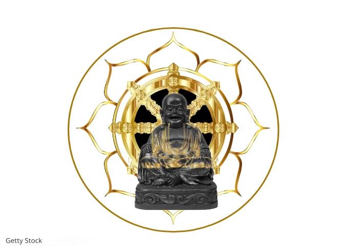 Laughing Buddha Art A4 template
