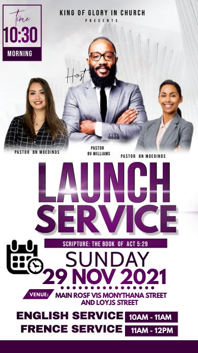 Launch service Historia de Instagram template