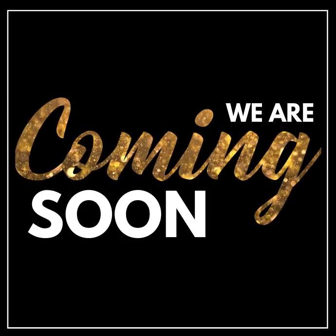 launching, opening soon, grand opening Persegi (1:1) template