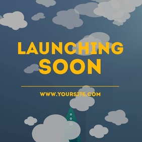 Launching soon rocket animation video