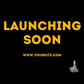 Launching soon rocket animation video Instagram Post template
