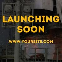 Launching soon rocket closeup footage video Pos Instagram template
