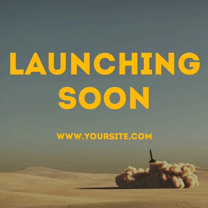 Launching soon rocket drone footage video Instagram Post template