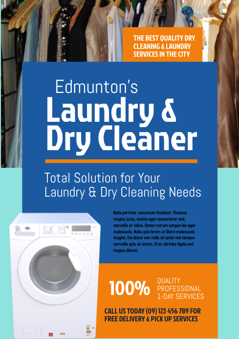 Laundry & Dry Cleaner Flyer Template