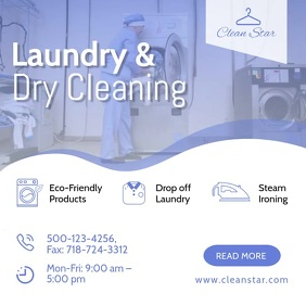 Laundry & Dry Cleaning ad social media templa