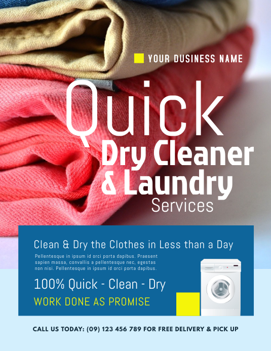 Laundry & Dry Cleaning Flyer Template