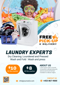 laundry and dry cleaning A4 template
