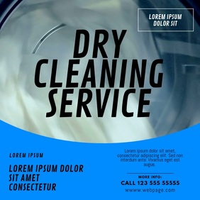 Laundry and Dry Cleaning Service Flyer Design Vierkant (1:1) template