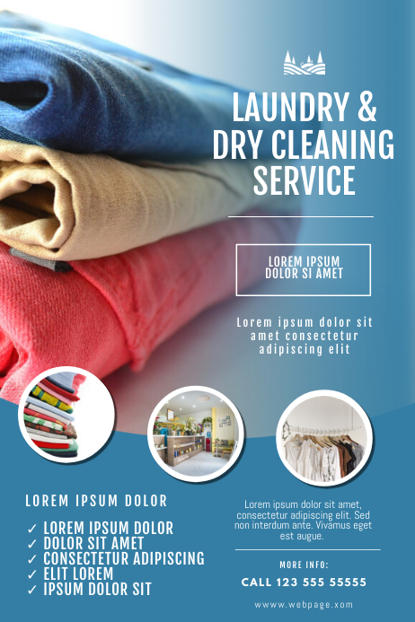 Laundry And Dry Cleaning Service Flyer