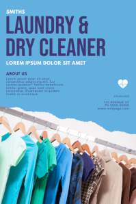 Laundry and Dry Cleaning Service Flyer Design
