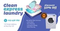 Laundry Cleaning Service Flyer Template Isithombe Esabiwe ku-Facebook