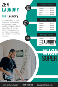 Laundry firm flyer & poster design template