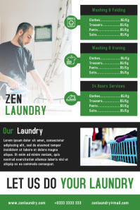 Laundry service flyer and poster design template