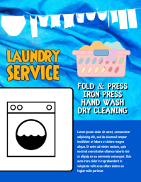 Laundry Service Wash and Fold Flyer