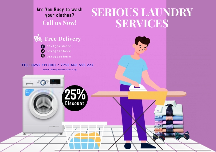 Laundry services 6 A2 template