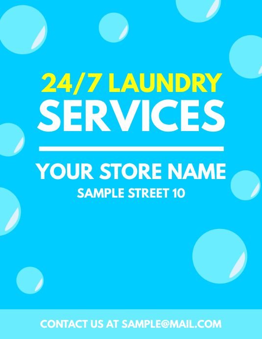 Laundry Services Flyer