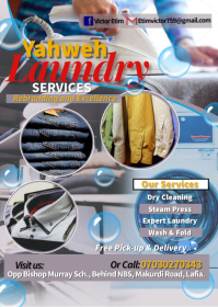 Laundry services template A6