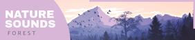 Lavendar Nature Themed Soundcloud Banner