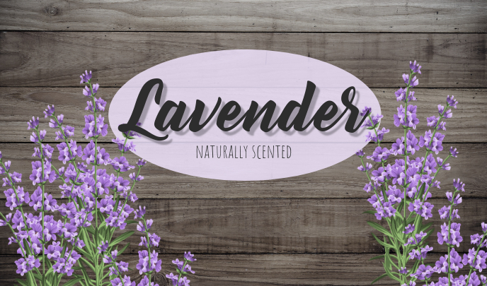 lavender scent label Tag template
