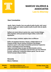 Law and attorney letterhead design template w