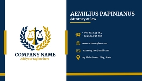 Law attorney business card
