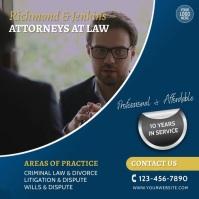 Law Firm Attorney Video Template Persegi (1:1)