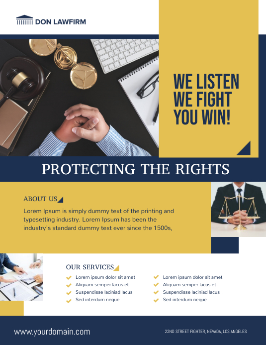 Law Firm Company Flyer Poster Template