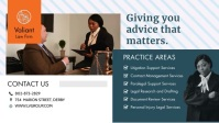 Law Firm Facebook Cover Video Facebook-Covervideo (16:9) template