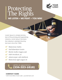 Law Firm Flyer Flyer Poster Template Volantino (US Letter)
