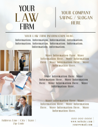 Law Firm / Lawyer Company Flyer Template