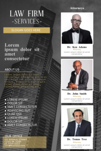 Law Firm Services Flyer Template with three images photos