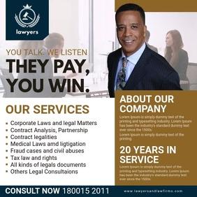 Law Professionals Instagram Advert Quadrato (1:1) template