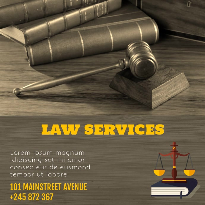 LAW SERVICES VIDEO FLYER